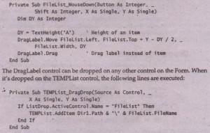 Manual Drag Visual Basic Assignment Help, VB & VB Net